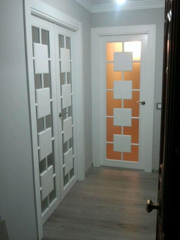 Foto puertas vidrieras lacadas de puertas nobles - Vidrieras para puertas ...
