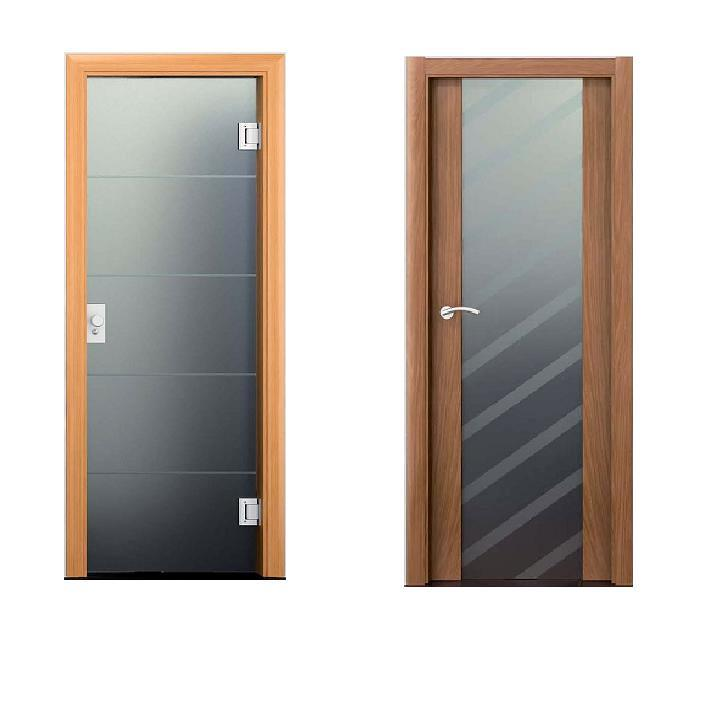 Puertas de ba o en vidrio templado for Puertas de paso de cristal
