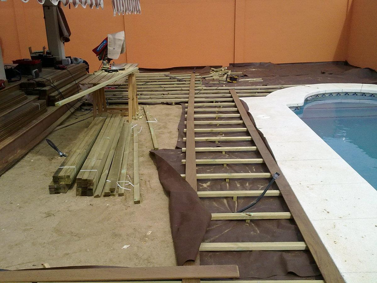 Foto rastrelado para tarima de exterior de adg suelos de - Tarima de exterior ...