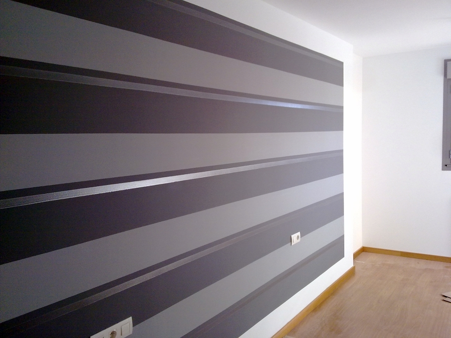 Paredes pintadas a rayas verticales best paredes pintadas a rayas verticales with paredes - Pared pintada a rayas verticales ...