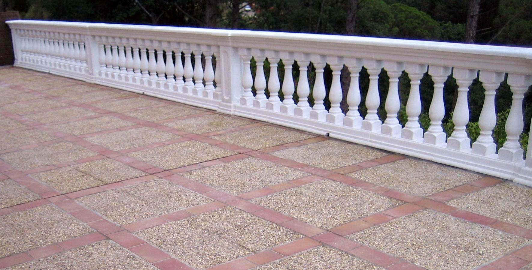 realizacion de balustradas y pavimentos