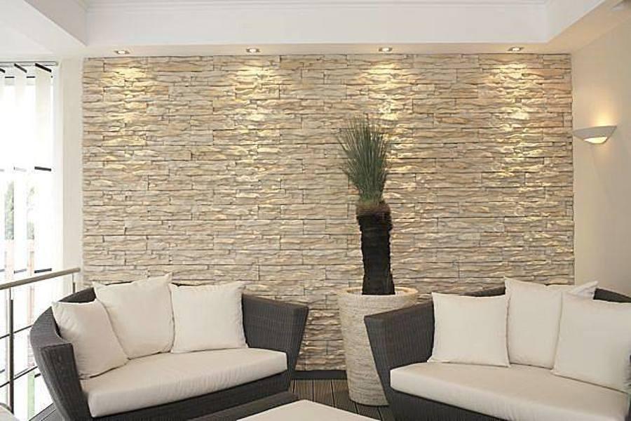 Reforma piedra decorativa salón