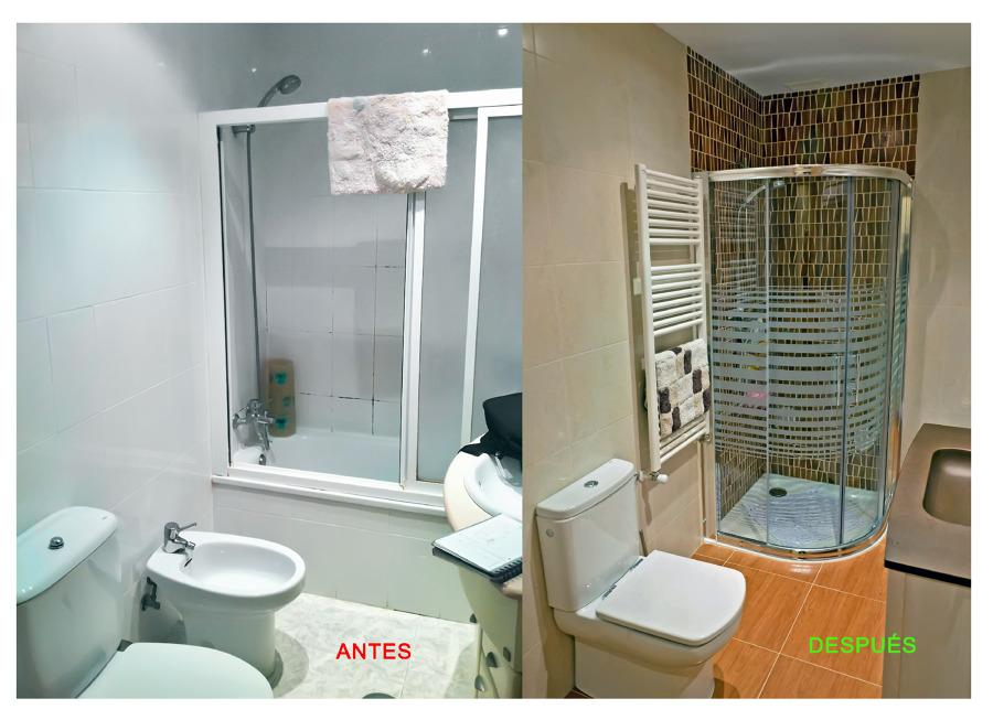 Foto reforma de ba o antes y despu s de proyectos de for Bano de color antes y despues