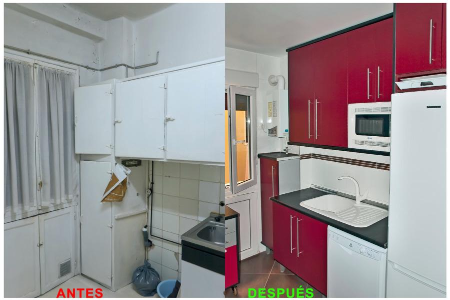 Foto reforma de cocina antes y despu s de proyectos de for Reformas de cocinas y banos