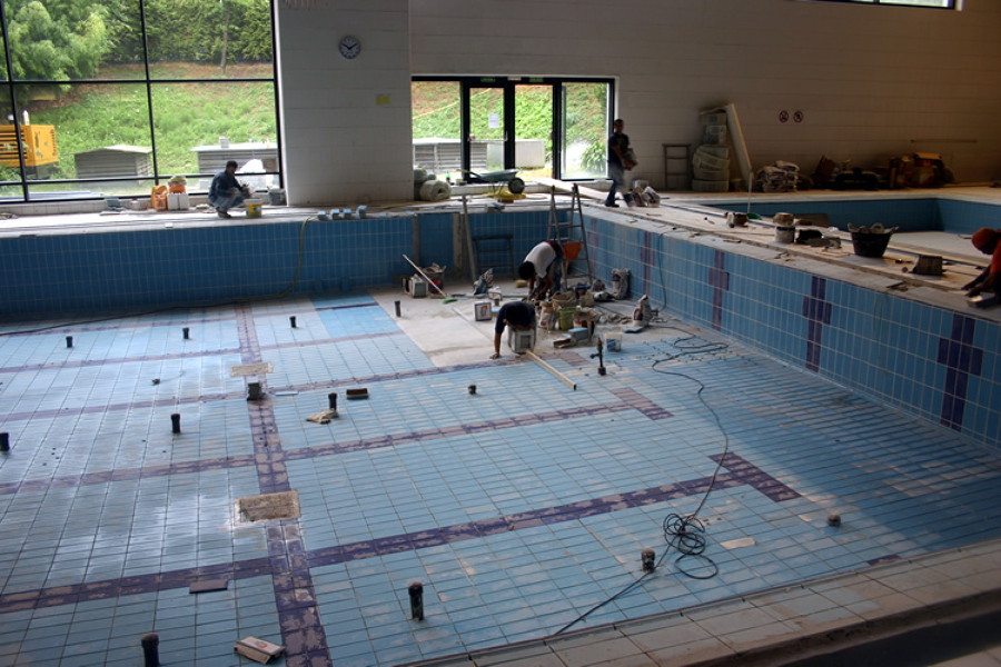 Reforma de piscina cubierta