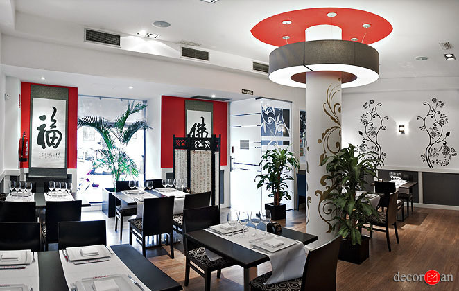 Reforma de restaurante asiático en madrid. Restaurante Jinode
