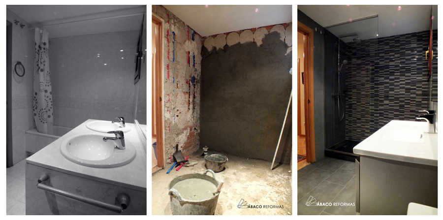 Reforma integral de cuarto de baño en Las Rozas