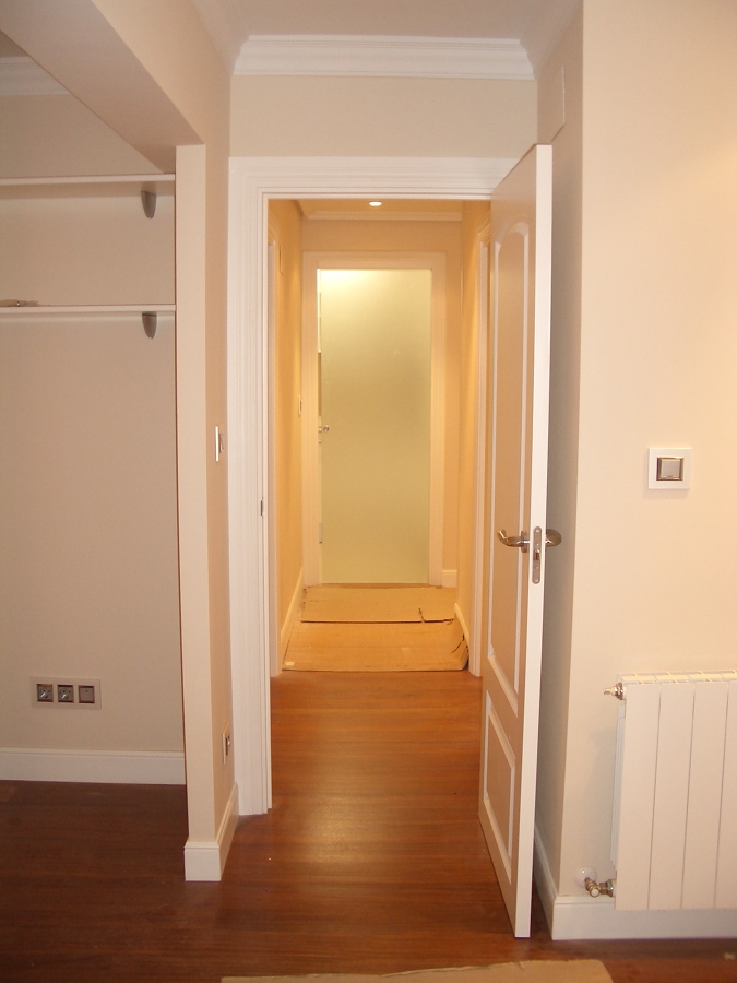 Hall de entrada a piso