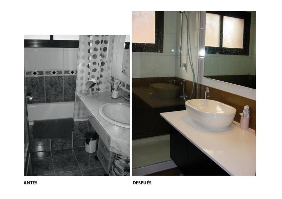 Foto reforma ba o low cost de puzzle 143858 habitissimo for Lavamanos sobrepuesto