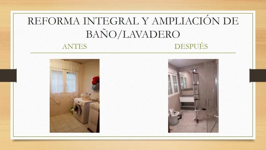 REFORMA INTEGRAL Y AMPLIACIÓN DE BAÑO/LAVADERO