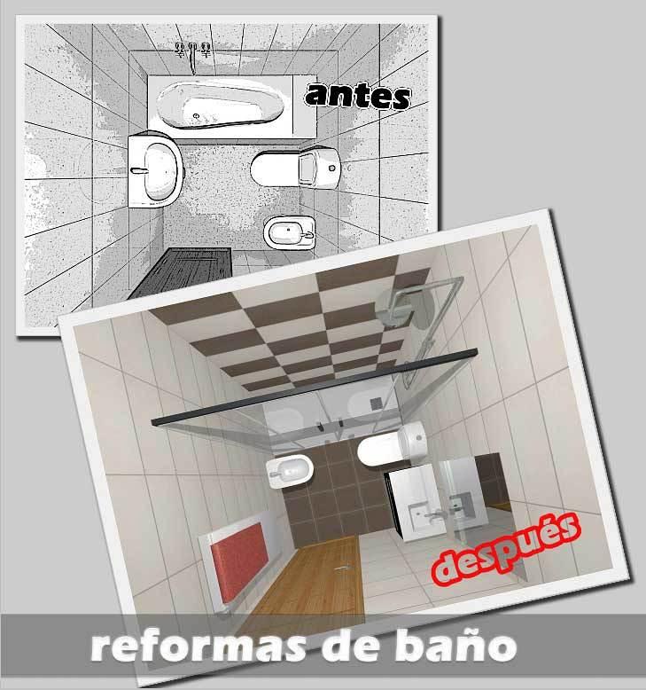 Reformas Baños Huelva:Diseño de reforma de baño con plano original y plano de la reforma a