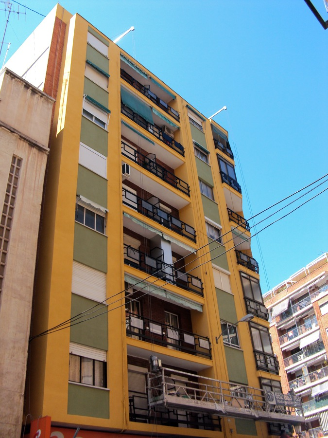 Foto rehabilitacion de fachada en valencia de espacio - Albaniles en valencia ...