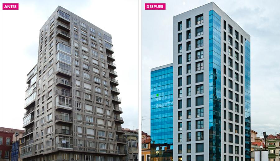 Foto rehabilitaci n energ tica mediante sistema fachada - Precio fachada ventilada ...