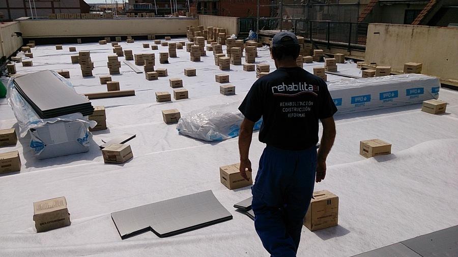 Rehabilitación integral de cubierta plana en Zamora