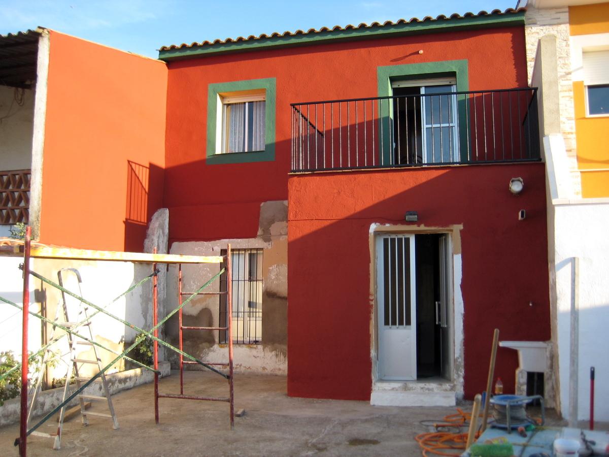 Pintura fachada casa pueblo de mosaic reformas 184323 pictures - Pintura para fachada ...