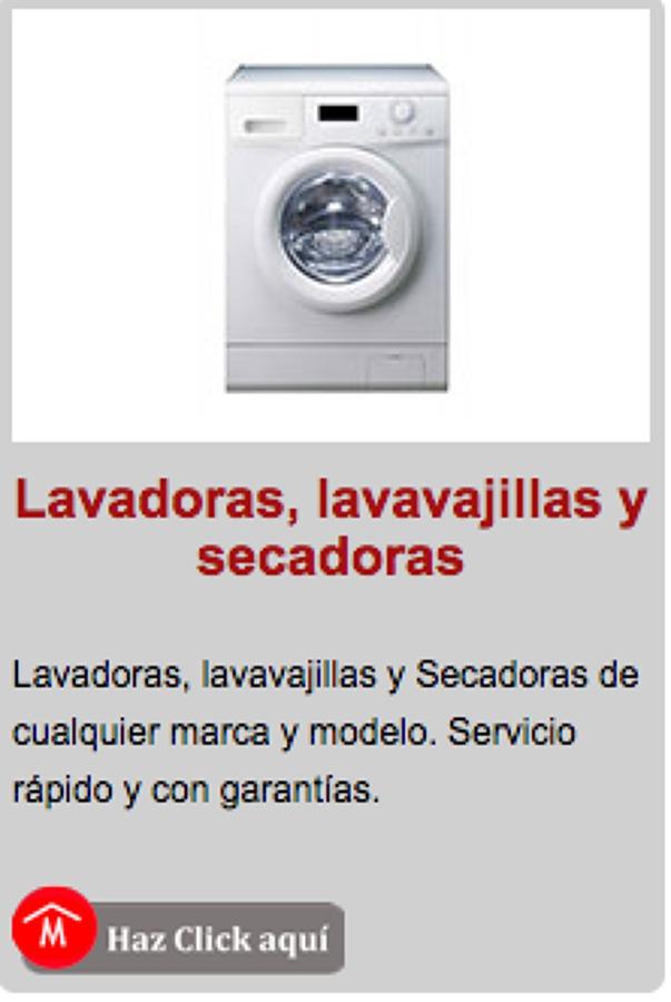 REPARACION DE LAVADORAS, LAVAPLATOS Y SECADORAS