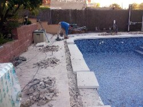 Foto reparacion en piscina de reformas jma 396344 for Reparacion piscinas barcelona