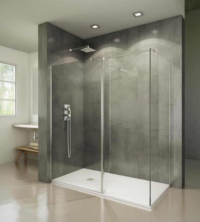 Mamparas de ducha cristales fijos