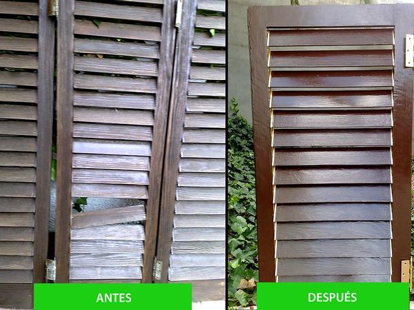 Restauración de ventanas y puertas de madera.