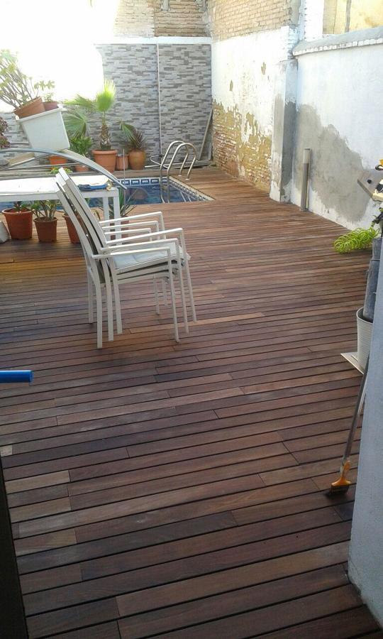 Restauracion de madera IP en terraza