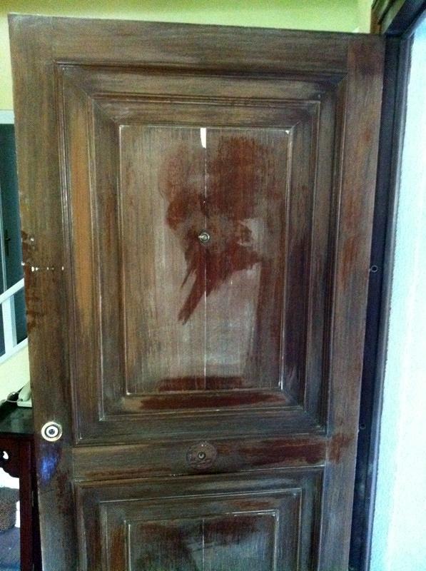 Arreglar puerta de madera simple imitaciones en madera al - Como arreglar una puerta de madera ...