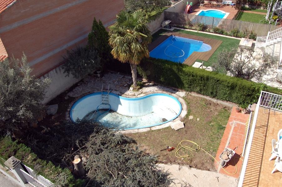 Foto revestimiento de piscina de fibra con gresite de for Revestimiento piscinas gresite