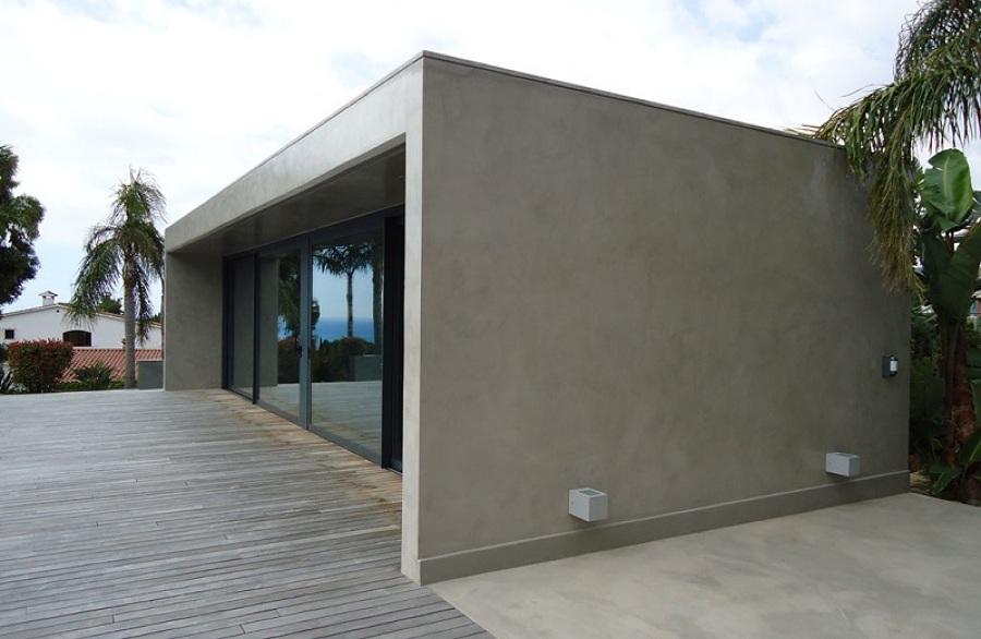 Foto revestimientos cementosos en suelos y paredes de - Revestimiento para paredes exteriores ...