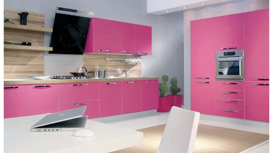 Foto rosa alto brillo de cocinas alba 541692 habitissimo - Cocinas rosa fucsia ...