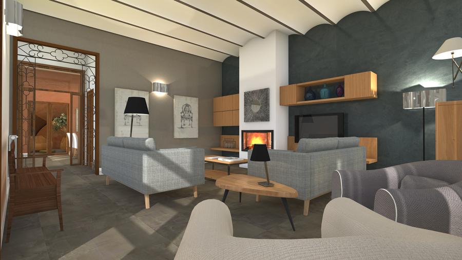 Reforma virtual casa de pueblo en Premià de Mar