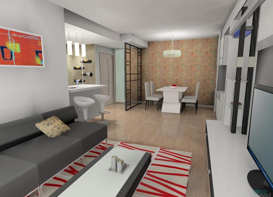 Foto salon abierto cocina comedor de decomad 735834 - Cocina salon comedor ...