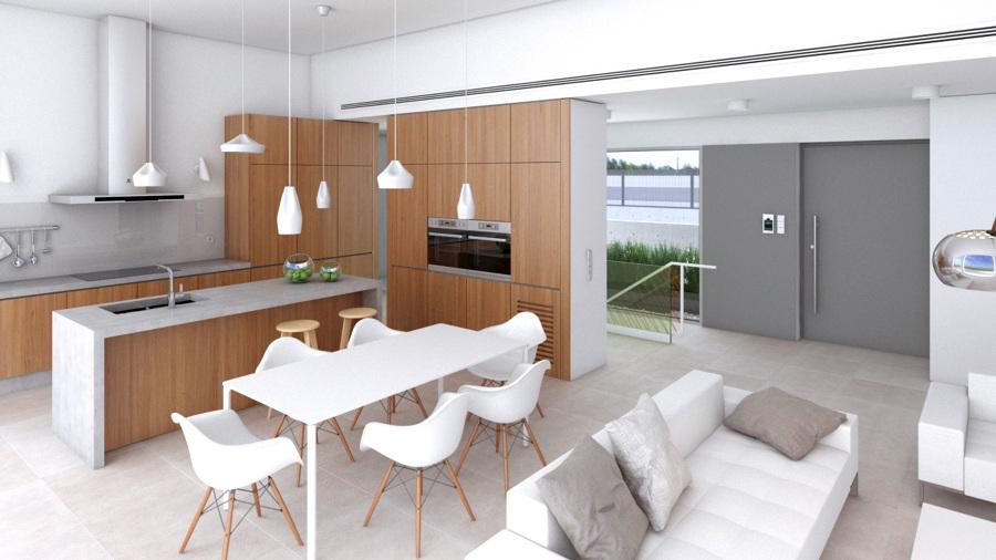 Foto sal n comedor cocina de nu o arquitectos 637884 - Salon y cocina integrados ...