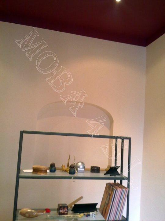 Foto sal n pared blanco roto techo granate de pinturas - Blanco roto pared ...