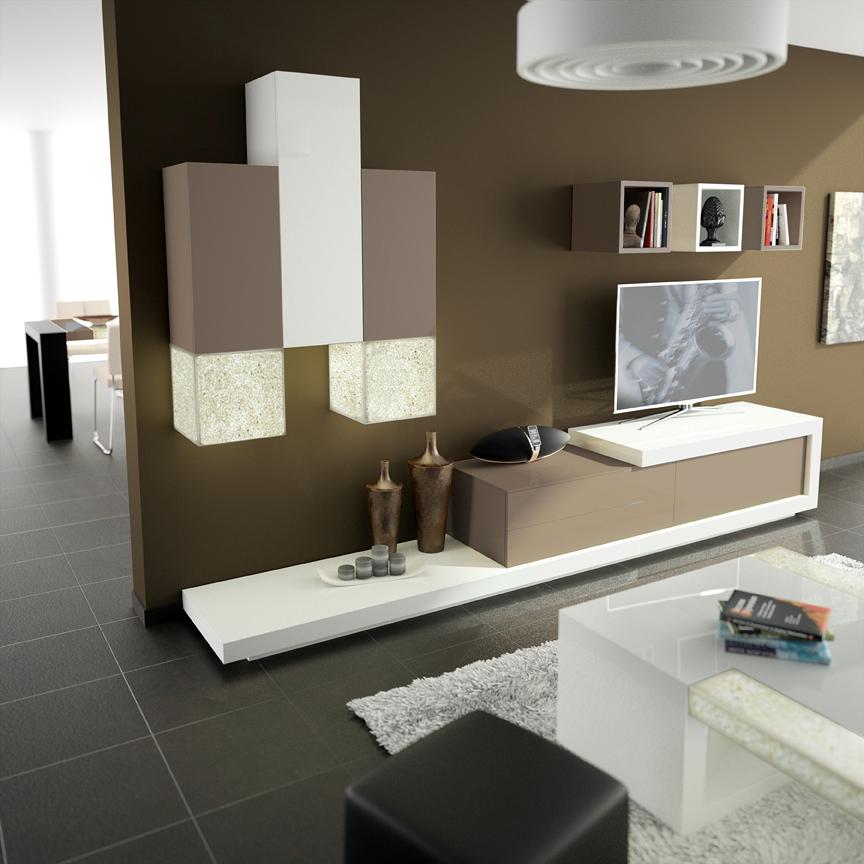 Foto salones con luz de muebles planelles 392361 - Muebles de salon con luz led ...