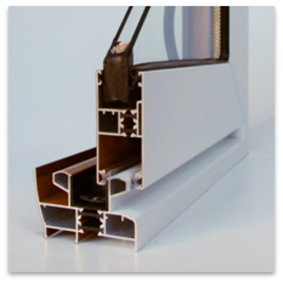 Foto secci n de ventana corredera de aluminio con rpt de for Correderas de aluminio