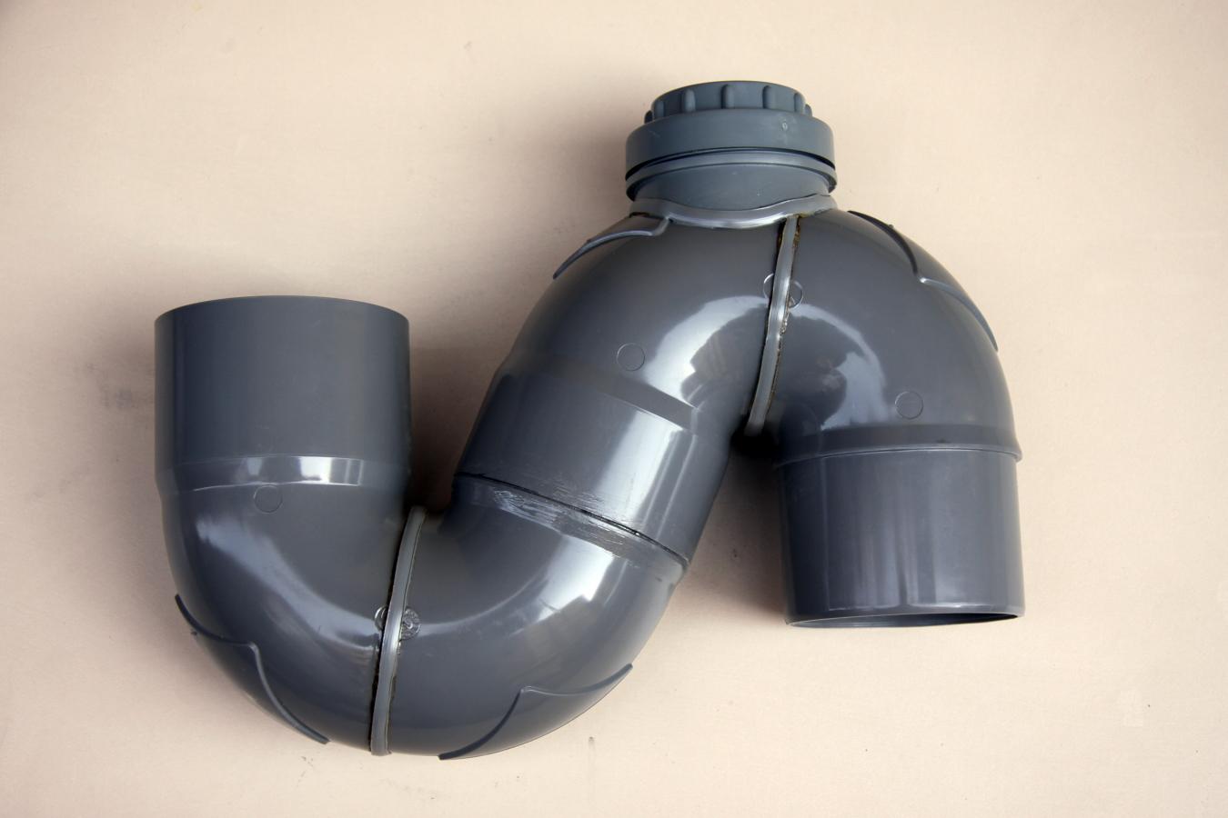 SIFON VERTICAL TURCO DE PVC