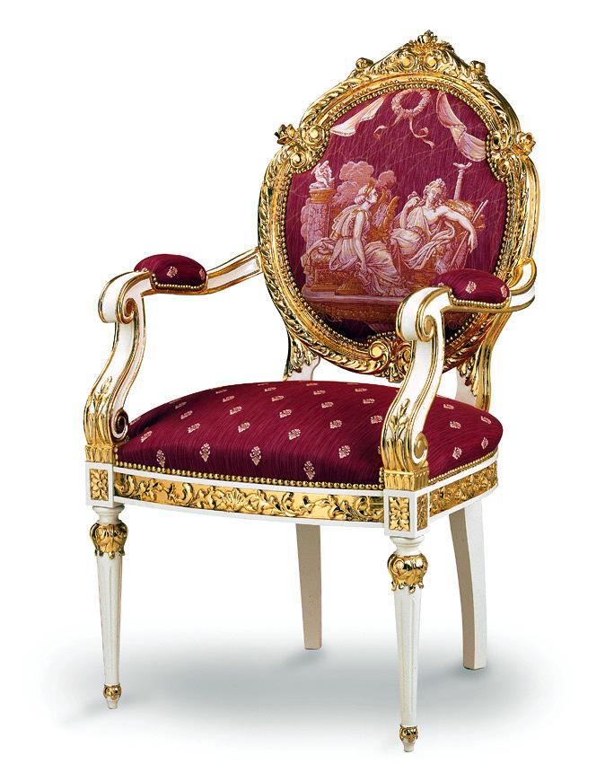 Foto silla cl sica tapizada de ebanister a arenas 245597 for Sillas de diseno clasicas