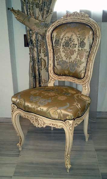 Foto silla cl sica tapizada de ebanister a arenas 245598 - Sillas luis xvi modernas ...