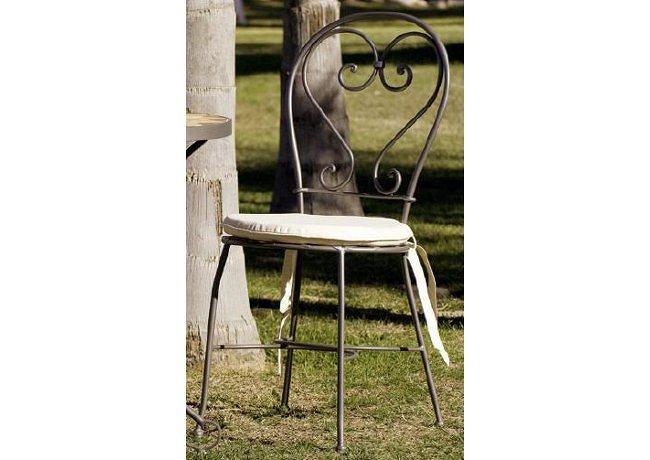 Silla de forja artesanal. Estilo vintage,.
