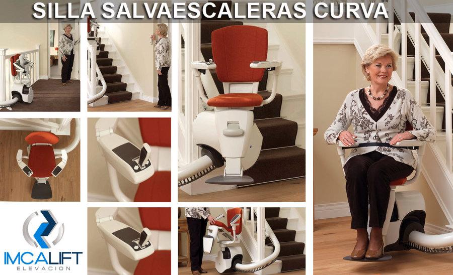 Foto silla salvaescaleras curva silla sube escaleras para tramos curvos de imca lift - Silla salvaescaleras barcelona ...