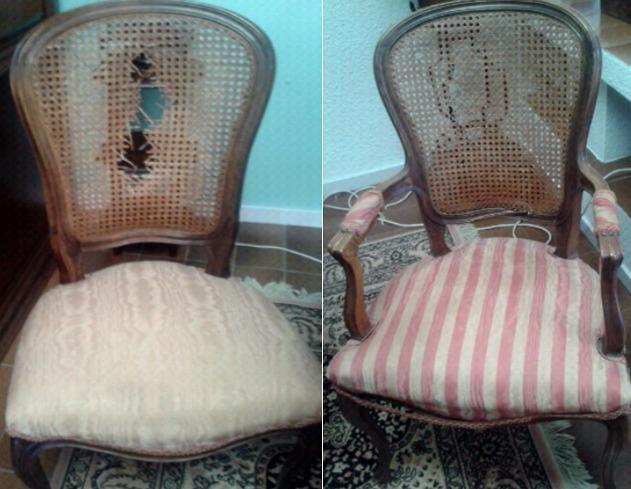 Silla y sillón clásico