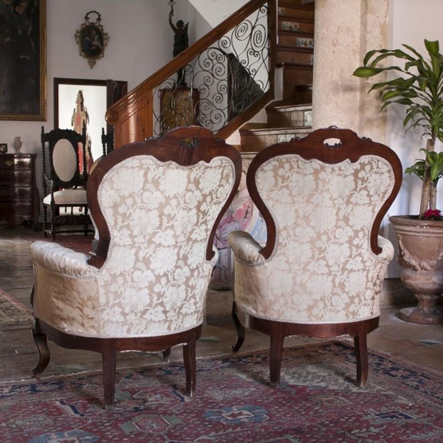 Foto sillones isabelinos de tapiceria junquera 1457625 - Tapiceros valladolid ...