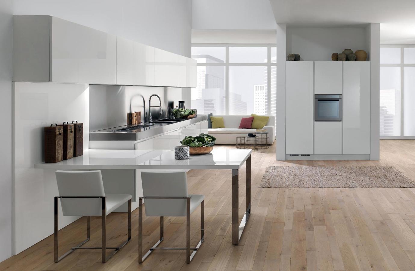 Foto sin tirador cocina living de art 345811 - Tiradores de cocina modernos ...