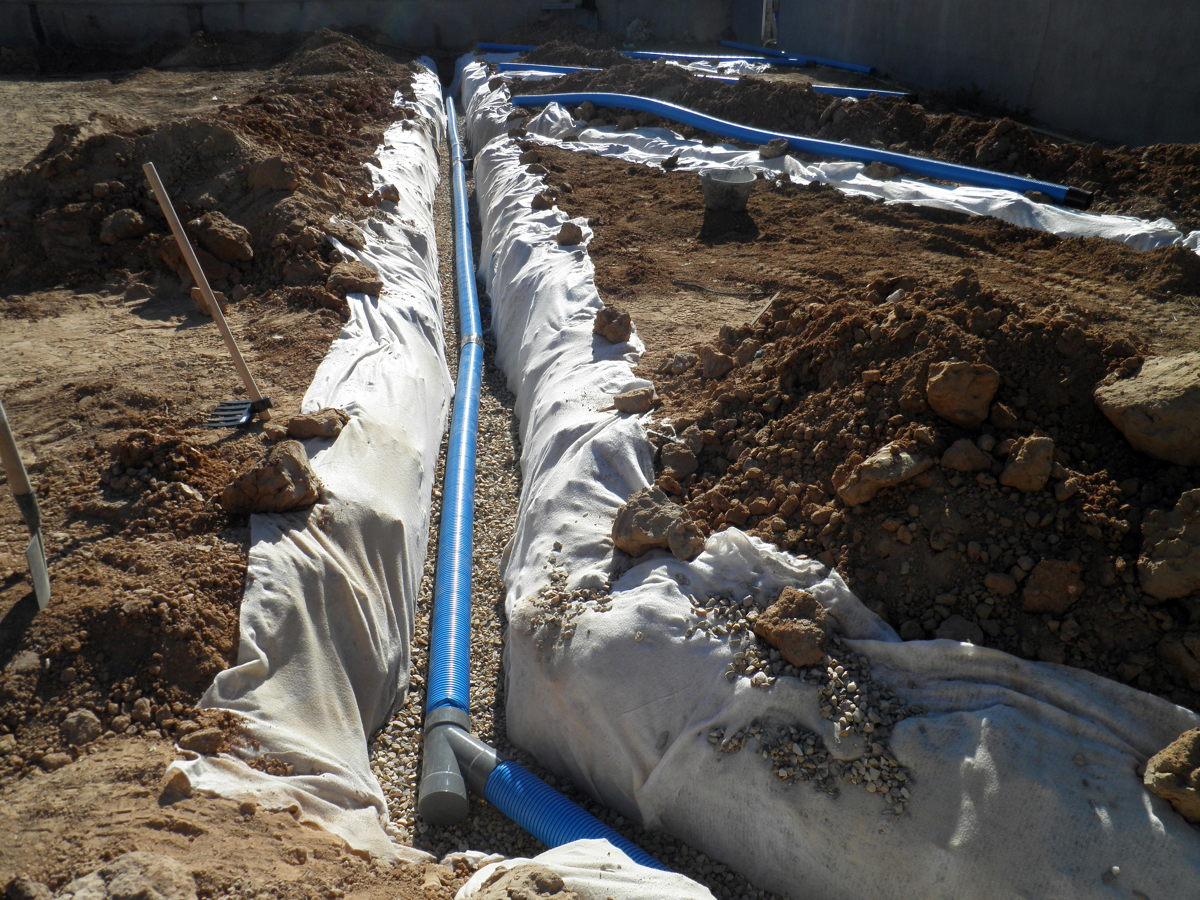 foto sistema de drenaje en jardin de solnatur 237829