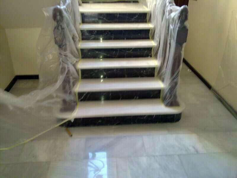 Sistema sin-polvo pulimentado escaleras