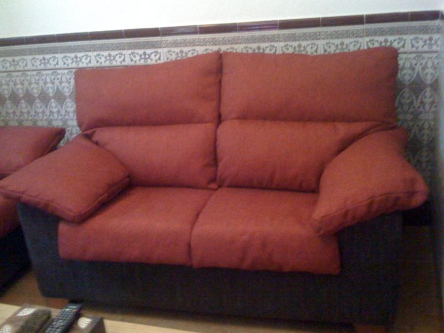 Foto sofa 3 2 plazas retapizado de tapiceria tom - Tapiceros valladolid ...
