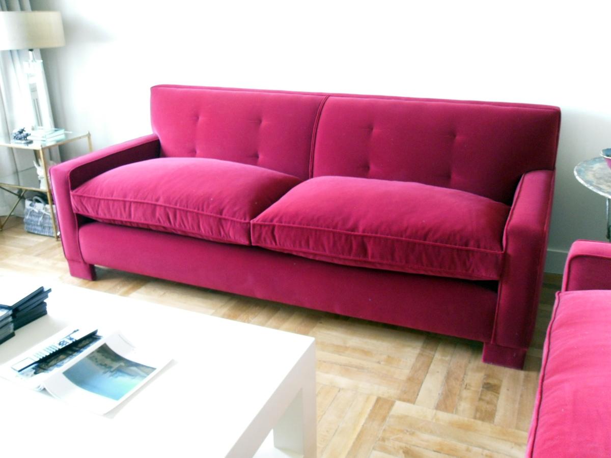 Foto sofa asiento de muelles respaldo fijo de tapicer a - Tapiceros en huelva ...