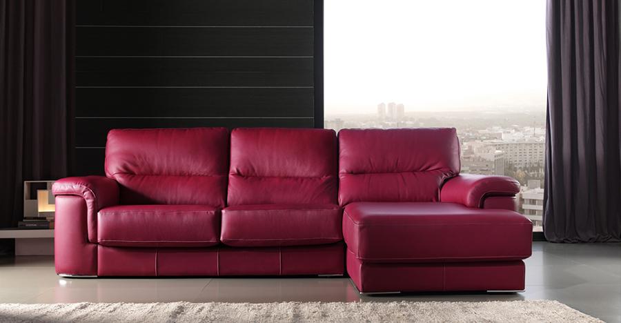 Foto sofa cheslong tapizado en piel de tapizados segui - Tapiceros en huelva ...