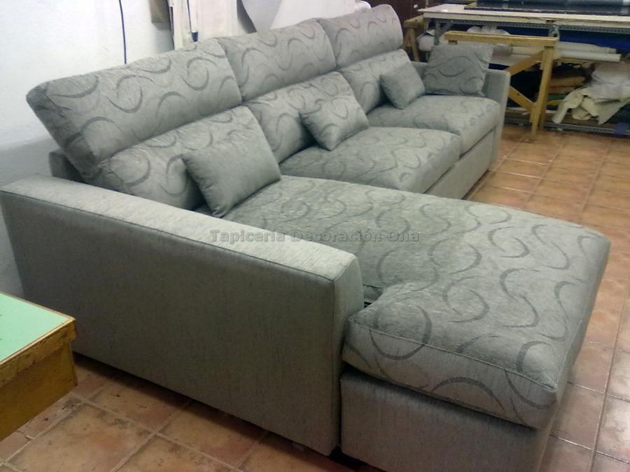 Foto sof con chaise longe de tapicer a ona 143048 - Tapiceros en salamanca ...