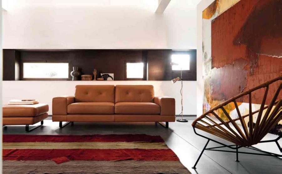 Foto sofa piel italiano de retama 213065 habitissimo - Sofas piel italianos ...