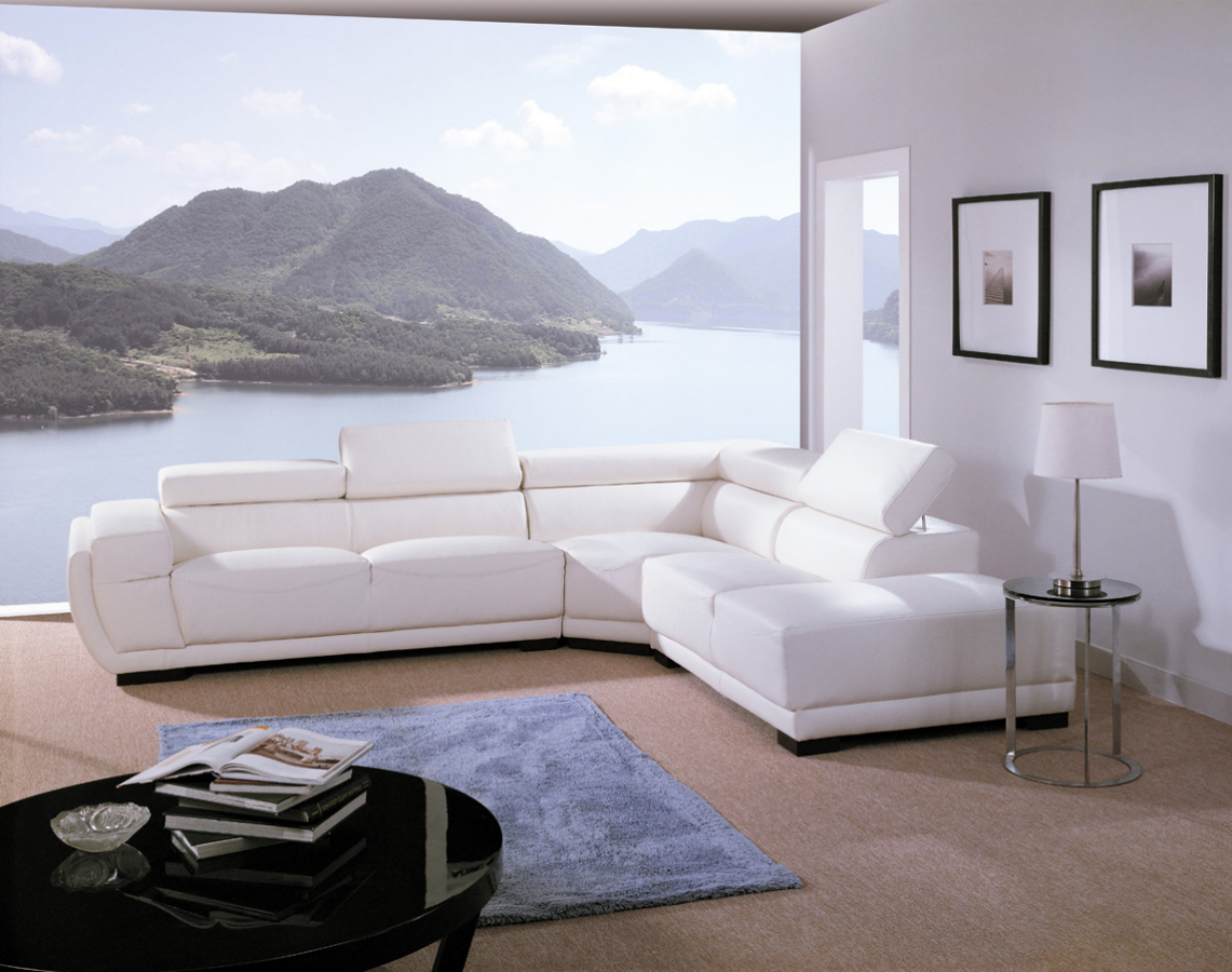 Foto sofa rinconera en pel blanca de mimo 140243 habitissimo - Sofa rinconera moderno ...